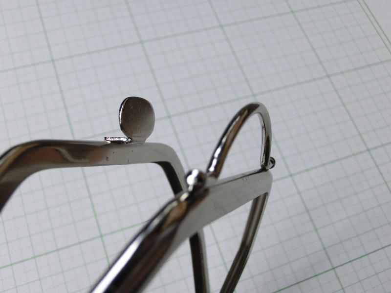画像3: 【口金】バック型押し口・銀