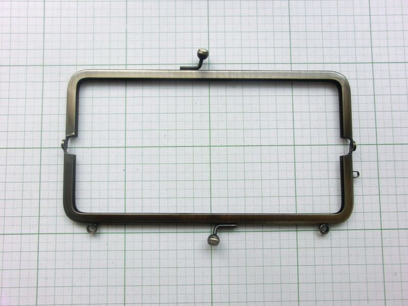画像2: 【口金】16.5角型・カン付・AG(通帳・眼鏡ケース)