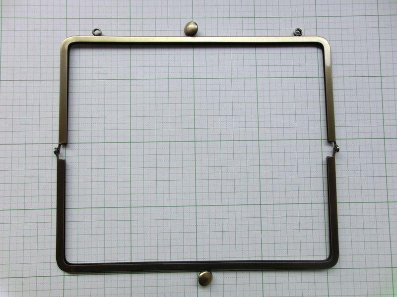 画像2: 【口金】カン付21角型・碁石つまみ・AG(長財布サイズ)