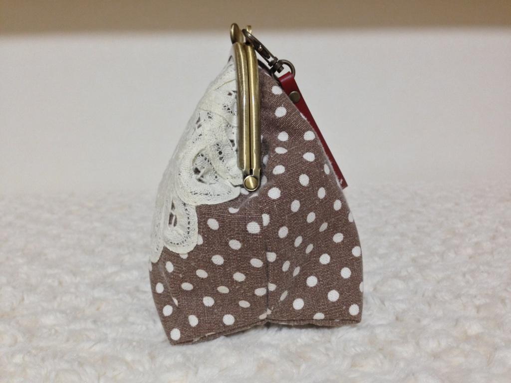 画像3: 【型紙&レシピと口金のセット】15cmマチ一体型がま口ポーチ型紙(口金・カンAG)