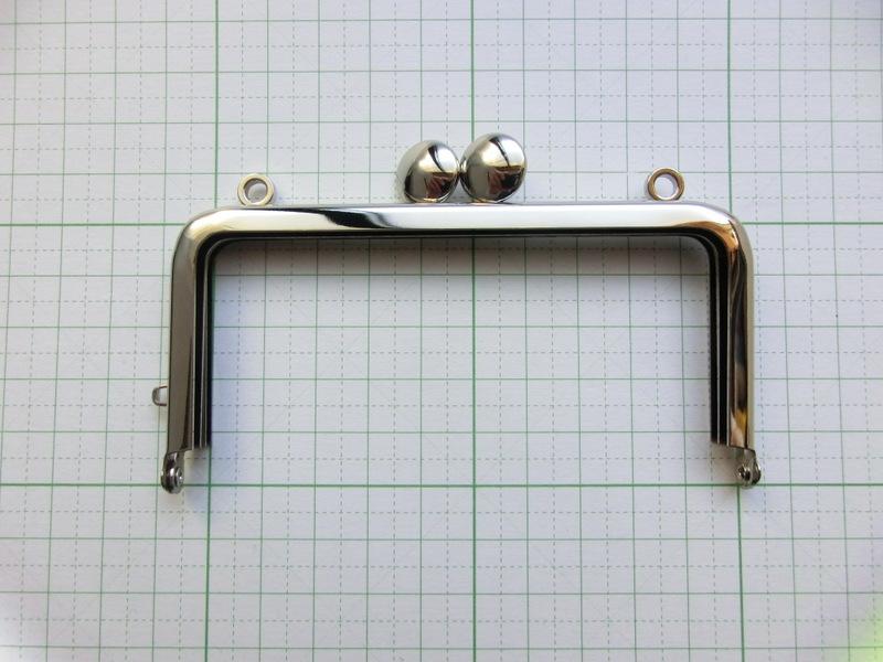 画像1: 【口金】10角型・カン付碁石つまみ・銀
