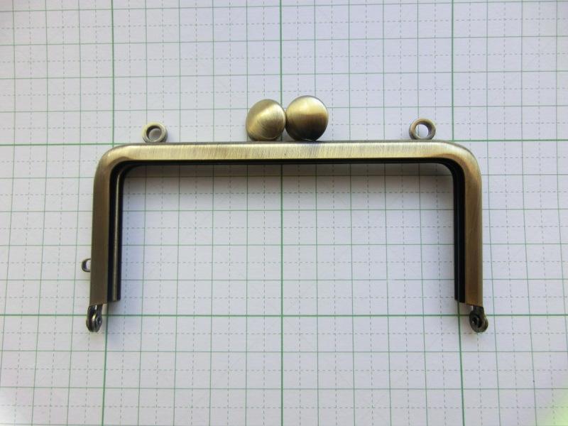 画像1: 【口金】10角型・カン付碁石つまみ・AG