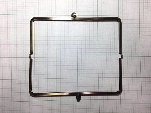画像2: 【口金】21角型・碁石つまみ・AG(長財布サイズ)