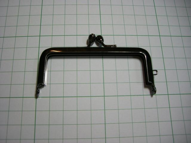 画像1: 【口金】8.5cm角型・黒(印鑑・たばこケース)