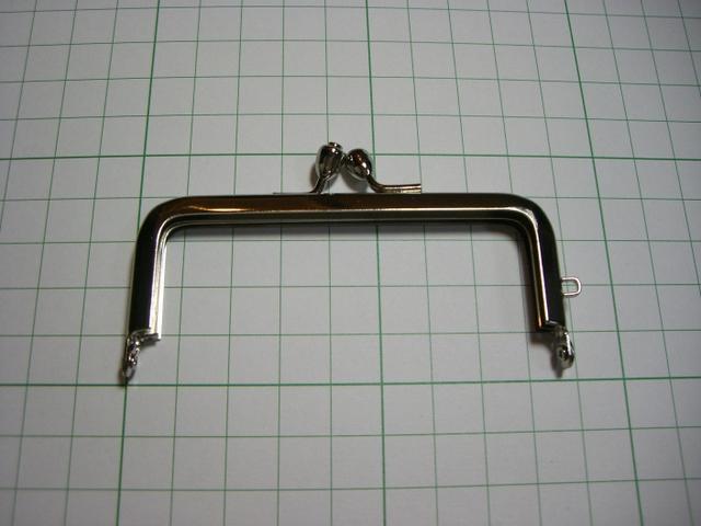 画像1: 【口金】8.5cm角型・銀(印鑑・たばこケース)
