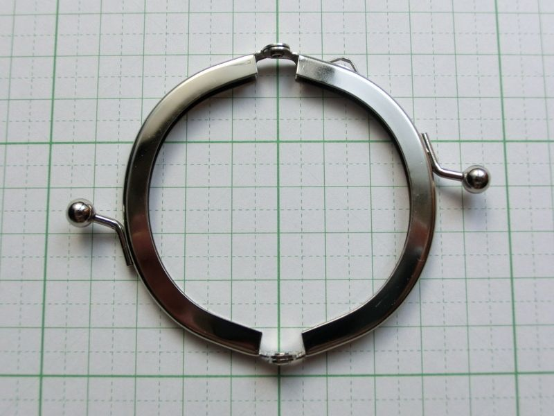 画像2: 【口金】6.5cmくし型・銀(小銭入れ・チビぷっくり)