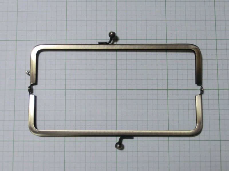 画像2: 【口金】16.5角型・AG(通帳・眼鏡ケース)