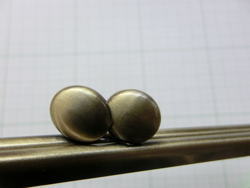 画像3: 【口金】カン付21角型・碁石つまみ・AG(長財布サイズ)