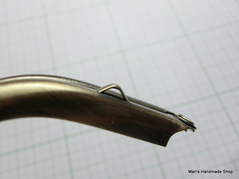 画像5: 【口金】カン付・12・5cmくし型・碁石つまみ・AG