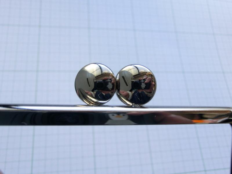 画像3: 【口金】10角型・カン付碁石つまみ・銀