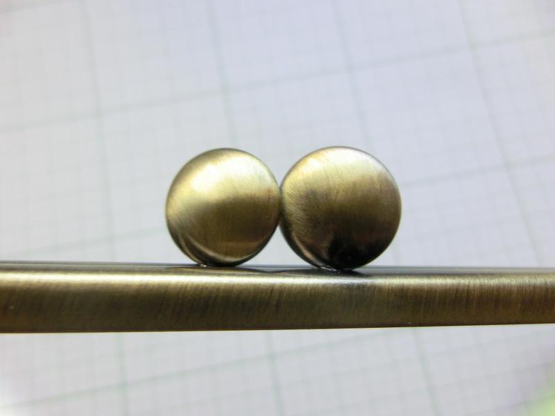 画像3: 【口金】10角型・カン付碁石つまみ・AG