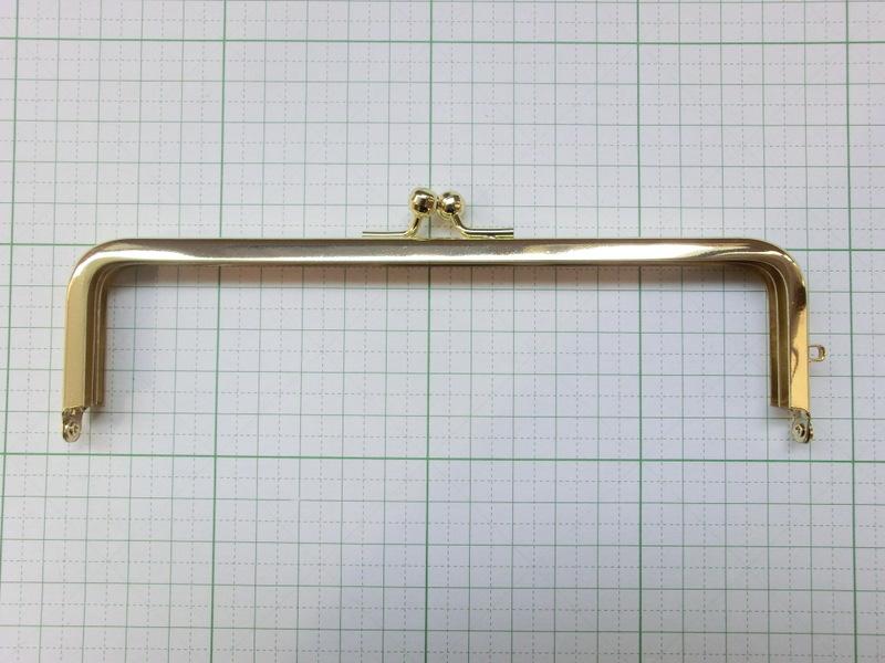 画像1: 【口金】16.5角型・金(通帳・眼鏡ケース)