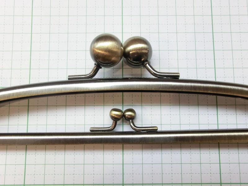 画像1: 【口金】カン付・20.4cm大玉・親子がま・AG