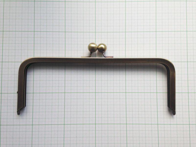 画像2: 【無料型紙付キャンペーン】24cm大玉・角型バック用(あおりがま口バック)