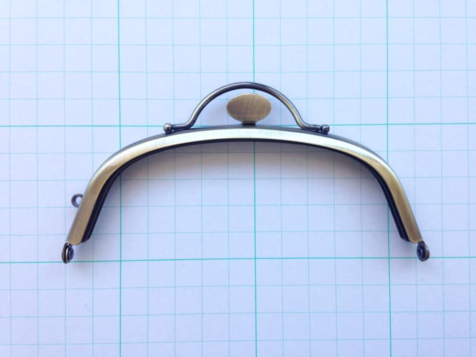 画像1: 【定番口金】12.5cmくし型・押口・AG