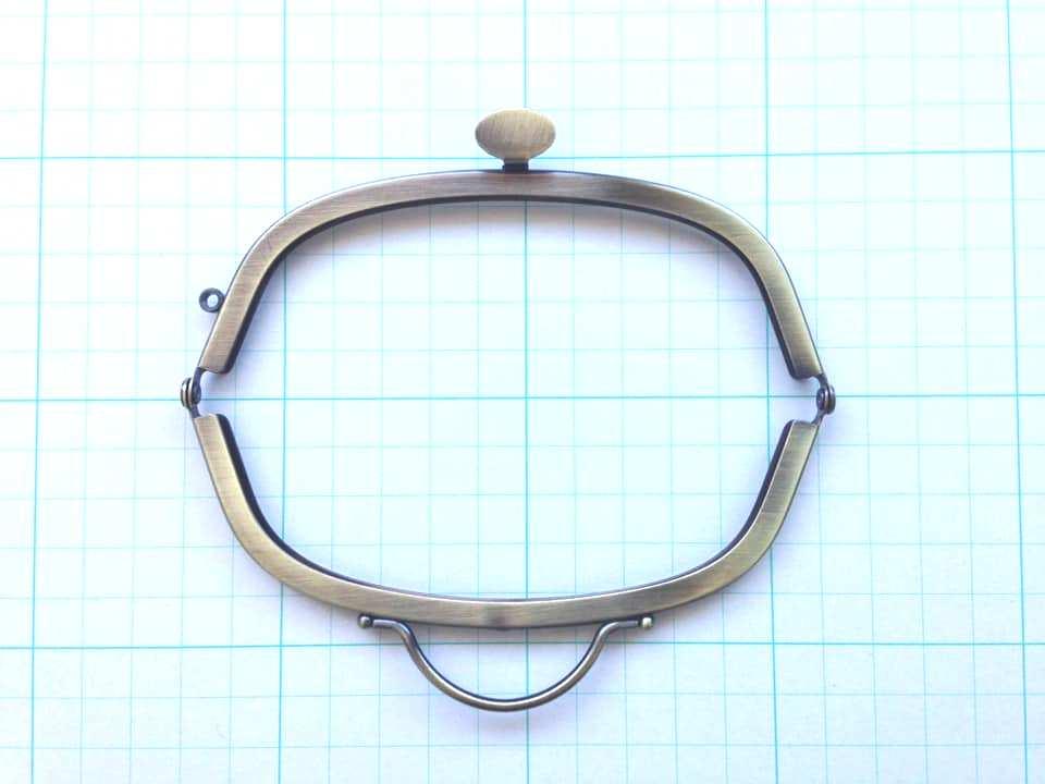 画像2: 【定番口金】12.5cmくし型・押口・AG