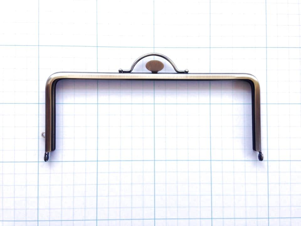 画像1: ★【口金】18cm角型・押口・AG★