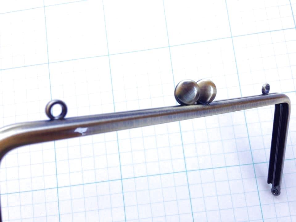 画像3: ★【口金】カン付・18cm角型・碁石つまみ・AG★