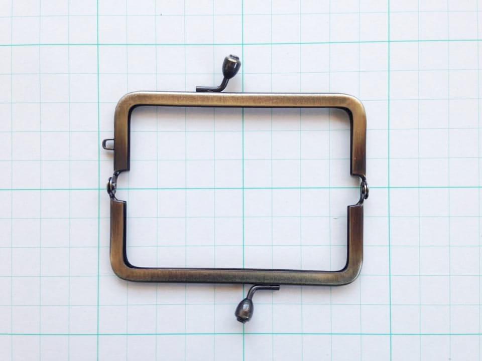 画像2: 【口金】8.5cm角型・AG(印鑑・たばこケース)