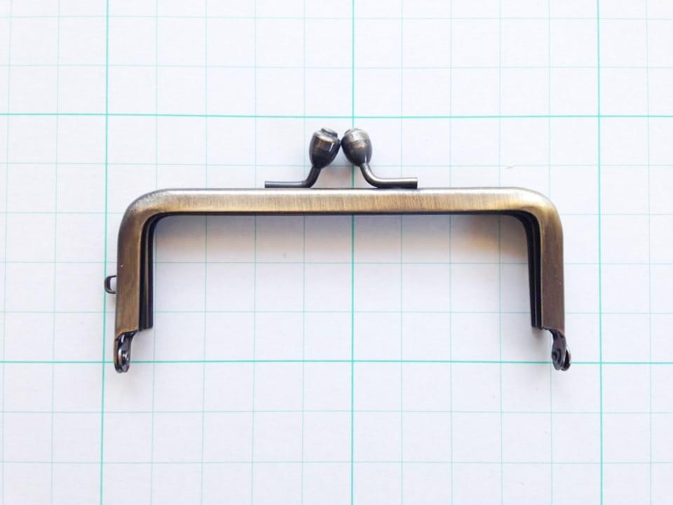 画像1: 【口金】8.5cm角型・AG(印鑑・たばこケース)