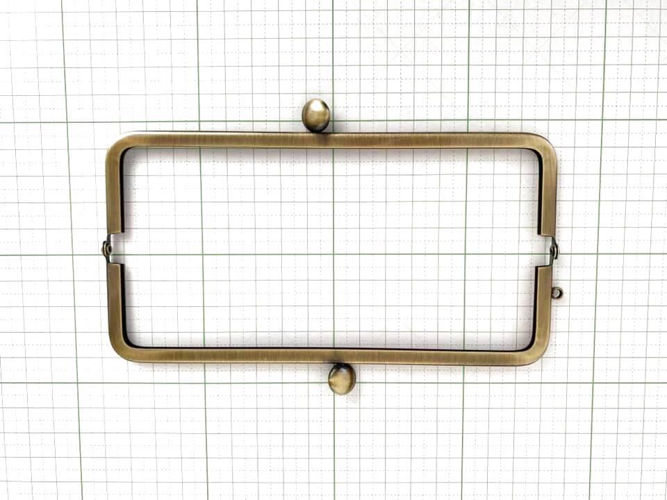 画像2: 【定番口金】16.5cm角型・碁石・AG(通帳ケース)