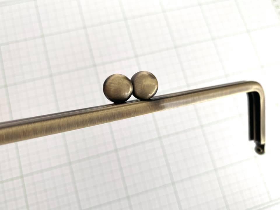 画像3: 【定番口金】16.5cm角型・碁石・AG(通帳ケース)