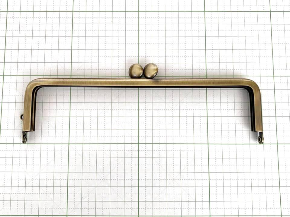 画像1: 【定番口金】16.5cm角型・碁石・AG(通帳ケース)