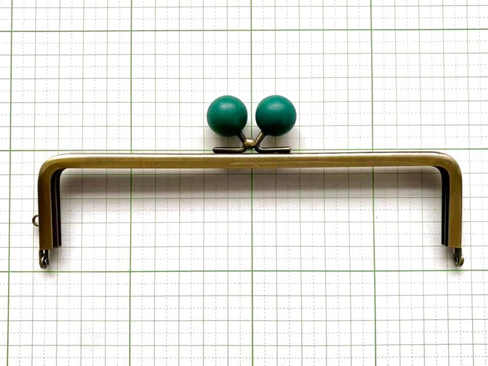 画像1: 【定番口金】16.5cm角型・★青木玉・AG(通帳ケース)