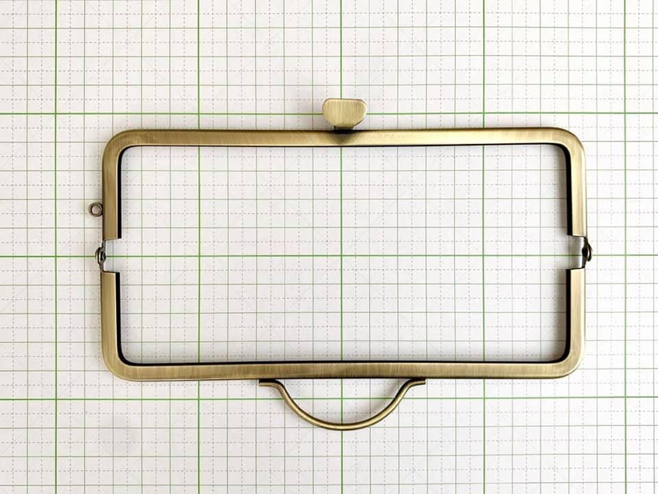 画像2: 【定番口金】16.5cm角型・押口・AG(通帳ケース)