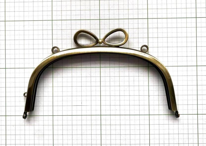 画像4: 【定番口金】カン付き・15cmくし型・リボン・AG