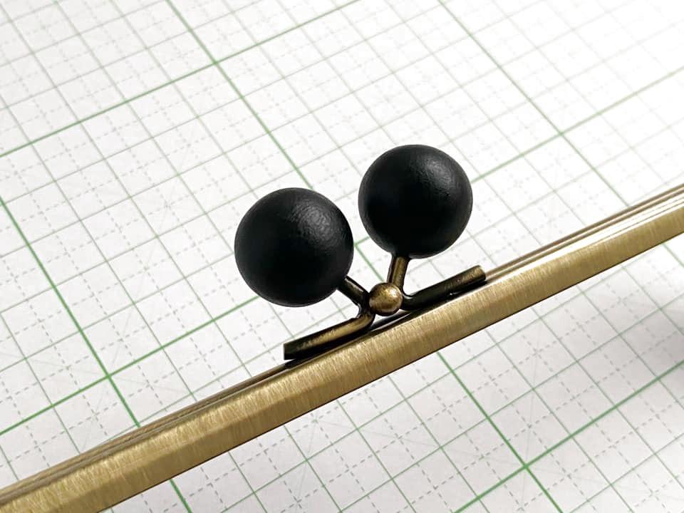 画像2: 【定番口金】16.5cm角型・★黒木玉・AG(通帳ケース)