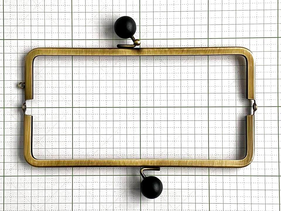 画像4: 【定番口金】16.5cm角型・★黒木玉・AG(通帳ケース)