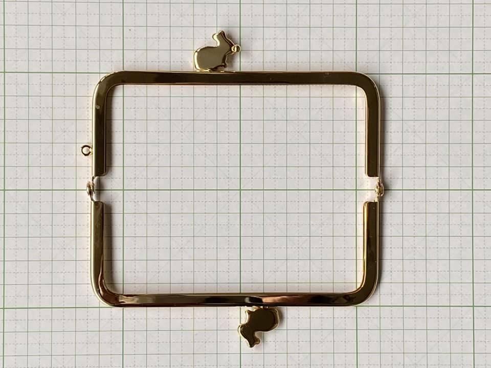 画像3: 【限定カラー口金】12cm角型・うさぎ・金