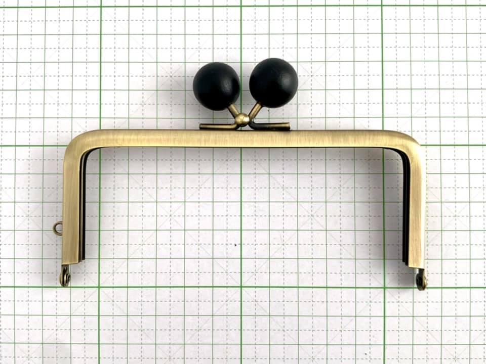 画像4: 【定番口金】12cm角型・★黒木玉・AG(デジカメケース)