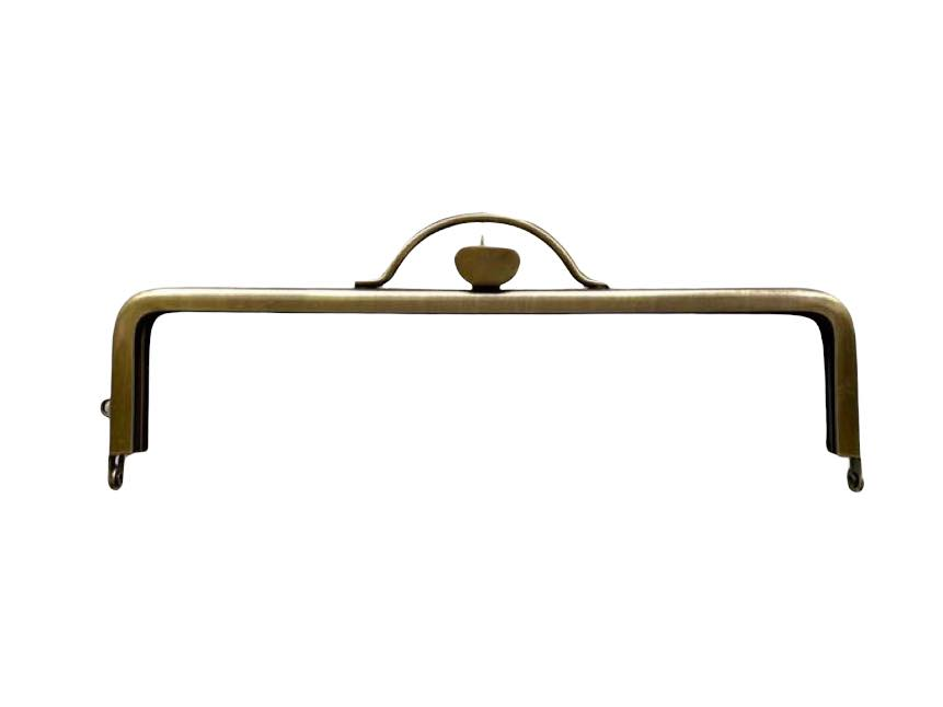 画像1: 【定番口金】16.5cm角型・押口・AG(通帳ケース)