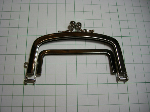 画像1: 【口金】仕切り型・銀