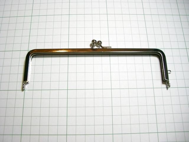 画像1: 【口金】16.5角型・銀(通帳・眼鏡ケース)